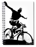 Bicycle - Black And White Pixels Spiral Notebook