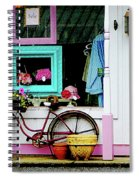 Bicycle By Antique Shop Spiral Notebook