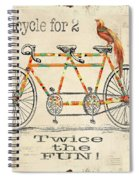 Bicycle For 2 Spiral Notebook