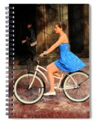 Bicycle Girl 1c Spiral Notebook