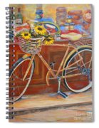 Bicycle In Cortona Spiral Notebook