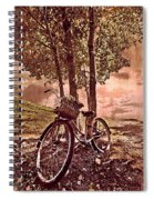 Bicycle In The Park Spiral Notebook