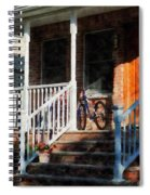 Bicycle On Porch Spiral Notebook