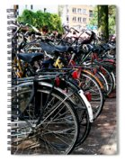 Bicycle Parking Lot Spiral Notebook