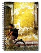 Bicycle Textures Spiral Notebook