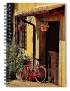 Bicycle Under The Porch Spiral Notebook