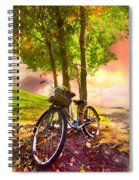 Bicycle Under The Tree Spiral Notebook