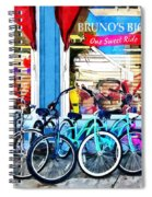 Bicycles And Chocolate Spiral Notebook