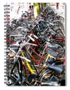 Bicycles In Amsterdam Spiral Notebook