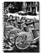 Bicycles - Velib Station - Paris Spiral Notebook