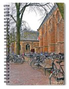 Bicycling To Church Spiral Notebook