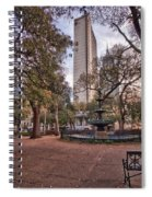 Bienville Spring With Benches Spiral Notebook
