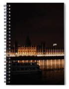 Big Ben And The Houses Of Parliment On The Thames Spiral Notebook