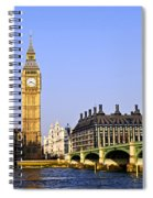 Big Ben And Westminster Bridge Spiral Notebook