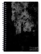 Big Ben Street Black And White Spiral Notebook