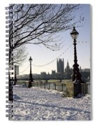 Big Ben Westminster Abbey And Houses Of Parliament In The Snow Spiral Notebook