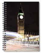 Big Ben With Light Trails Spiral Notebook