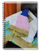 Big Blocks Patchwork Quilt Spiral Notebook