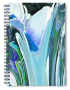 Big Blue Flower Spiral Notebook