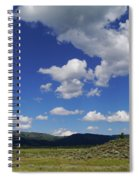 Big Blue Sky  Spiral Notebook