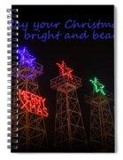 Big Bright Christmas Greeting  Spiral Notebook