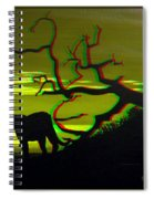 Big Cat Silhouette -  Use Red-cyan 3d Glasses Spiral Notebook