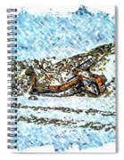 Big Cat - Sometimes They Fall - Winter - Snow - Slippery Slope  Spiral Notebook