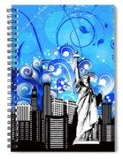 Big City Blues 4 Liberty Spiral Notebook