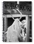 Big Cod Fish Hanging On The Hook Scale Spiral Notebook