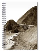 Big Creek Bridge Double Arched Concrete Bridge On Highway 1. About 40 Miles South Of Monterey  1935 Spiral Notebook