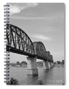 Big Four Bridge Bw Spiral Notebook