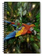 Big Glider Macaw Digital Art Spiral Notebook