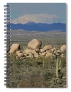 Big Granite Boulder In The Desert Spiral Notebook