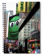 Big Green M And M Spiral Notebook