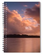 Big Lagoon Sunset Colors Spiral Notebook
