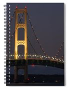 Big Mackinac Bridge 55 Spiral Notebook