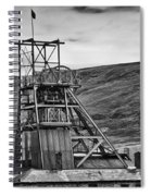 Big Pit Colliery Monochrome Spiral Notebook