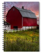 Big Red At Sunset Spiral Notebook