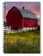 Big Red At Sunset Spiral Notebook