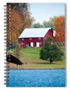 Big Red Barn Eagle Rocky Fork  Spiral Notebook