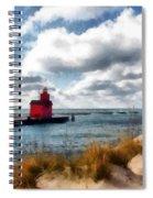 Big Red Big Wind Spiral Notebook