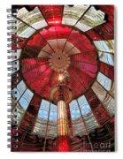 Big Red Fresnel Spiral Notebook