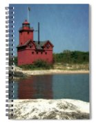 Big Red Holland Michigan Lighthouse Spiral Notebook