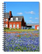 Big Red House On Bluebonnet Hill Spiral Notebook