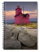 Big Red Lighthouse By Holland Michigan Spiral Notebook