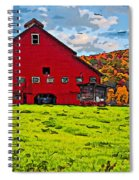 Big Red Line Art  Spiral Notebook