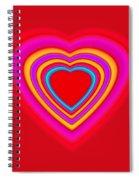 Big Red Love Spiral Notebook