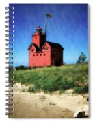 Big Red With Flag Spiral Notebook