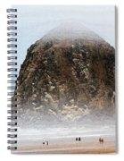 Big Rock On The Oregon Coast With Fog Spiral Notebook