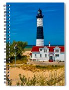 Big Sable Light On The Shore Spiral Notebook